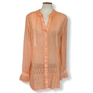 Soft Surroundings Blythe Embroidered Tunic
